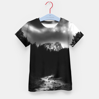 Miniatur Dramatic landscape of mountains and river Kid's t-shirt, Live Heroes