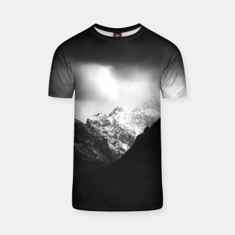 Miniaturka Storm clouds and sun over mountains T-shirt, Live Heroes