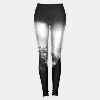 Miniatur Storm clouds and sun over mountains Leggings, Live Heroes