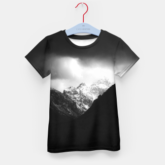 Miniatur Storm clouds and sun over mountains Kid's t-shirt, Live Heroes