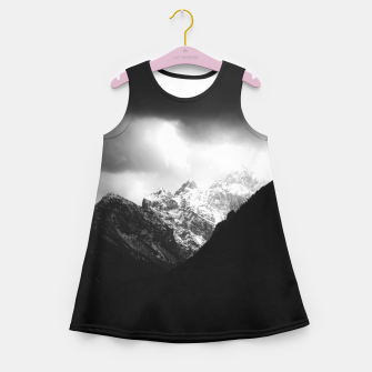 Thumbnail image of Storm clouds and sun over mountains Girl's summer dress, Live Heroes