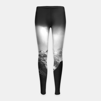 Thumbnail image of Storm clouds and sun over mountains Girl's leggings, Live Heroes