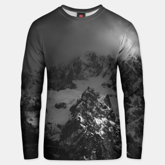 Miniatur Light and darkness at mountains Unisex sweater, Live Heroes