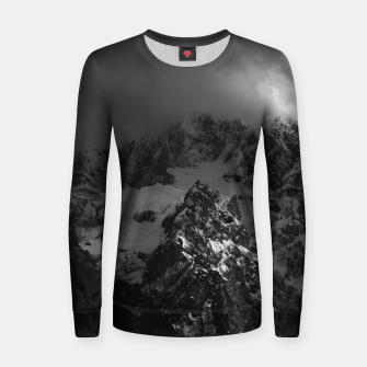 Miniatur Light and darkness at mountains Women sweater, Live Heroes