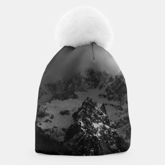 Miniatur Light and darkness at mountains Beanie, Live Heroes