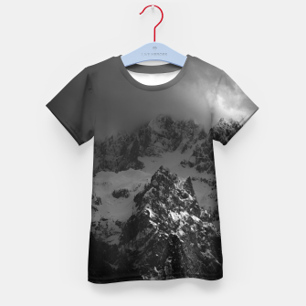 Miniatur Light and darkness at mountains Kid's t-shirt, Live Heroes