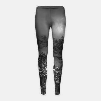 Miniatur Light and darkness at mountains Girl's leggings, Live Heroes