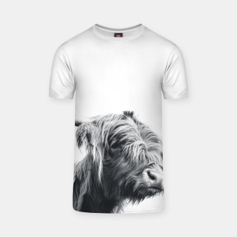 Miniaturka Majestic Highland cow black and white T-shirt, Live Heroes