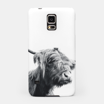 Miniaturka Majestic Highland cow black and white Samsung Case, Live Heroes