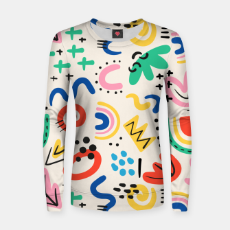 Thumbnail image of abstract Women sweater, Live Heroes