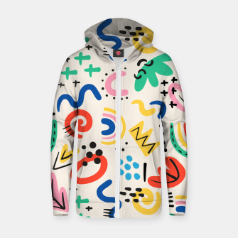 Thumbnail image of abstract Zip up hoodie, Live Heroes