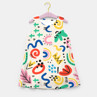 Thumbnail image of abstract Girl's summer dress, Live Heroes