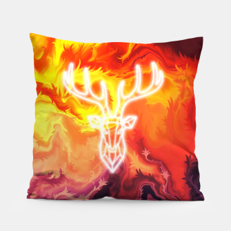 Thumbnail image of Abstract fire and deer Pillow, Live Heroes