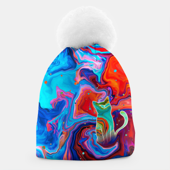 Thumbnail image of Trippy Cat Beanie, Live Heroes