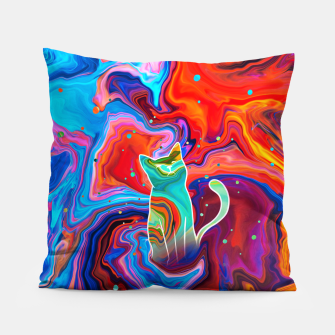 Thumbnail image of Trippy Cat Pillow, Live Heroes