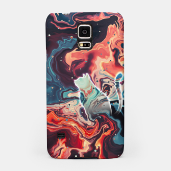 Thumbnail image of Trippy Cat Nebula Samsung Case, Live Heroes
