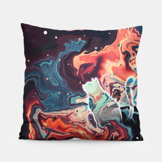 Thumbnail image of Trippy Cat Nebula Pillow, Live Heroes