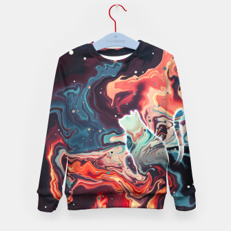 Thumbnail image of Trippy Cat Nebula Kid's sweater, Live Heroes