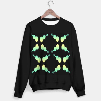 Thumbnail image of Gradient green and yellow violin on black Sweater regular, Live Heroes