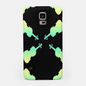 Thumbnail image of Gradient green and yellow violin on black Samsung Case, Live Heroes