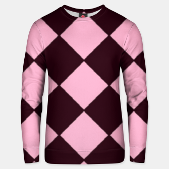 Thumbnail image of Pink and brown diamond shapes Unisex sweater, Live Heroes
