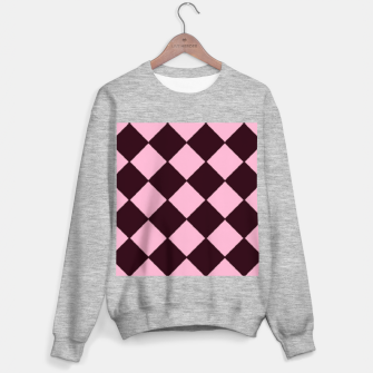 Thumbnail image of Pink and brown diamond shapes Sweater regular, Live Heroes