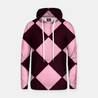 Thumbnail image of Pink and brown diamond shapes Hoodie, Live Heroes