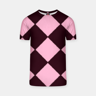 Thumbnail image of Pink and brown diamond shapes T-shirt, Live Heroes