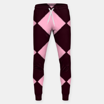 Thumbnail image of Pink and brown diamond shapes Sweatpants, Live Heroes