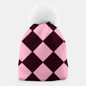 Thumbnail image of Pink and brown diamond shapes Beanie, Live Heroes