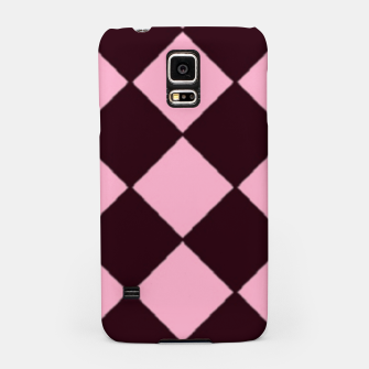 Thumbnail image of Pink and brown diamond shapes Samsung Case, Live Heroes