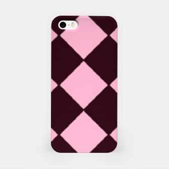 Thumbnail image of Pink and brown diamond shapes iPhone Case, Live Heroes