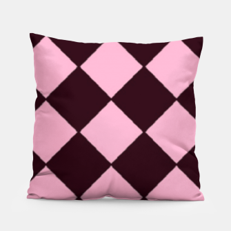 Thumbnail image of Pink and brown diamond shapes Pillow, Live Heroes