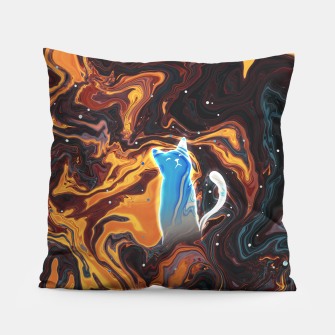 Thumbnail image of Trippy Cat Lava Pillow, Live Heroes