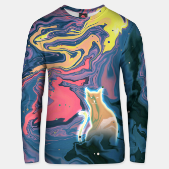 Thumbnail image of Trippy Cat Sunset Unisex sweater, Live Heroes
