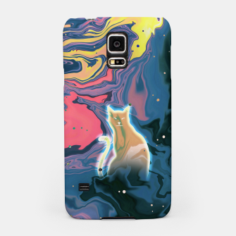Thumbnail image of Trippy Cat Sunset Samsung Case, Live Heroes