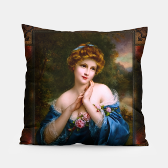 Thumbnail image of A Summer Rose (The Golden Peaks) by François Martin-Kavel Vintage Art Xzendor7 Old Masters Reproductions Pillow, Live Heroes