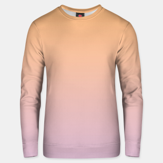Thumbnail image of Pastel pink orange duotone gradient ombre summer beach stylish color pure soft light monochrome Unisex sweater, Live Heroes