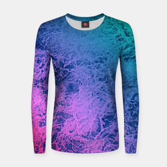 Thumbnail image of Marble gradient pattern Women sweater, Live Heroes