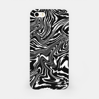 Thumbnail image of Acid Zebra - Modern Black & Withe Abstract Fluid Lsd Pattern Design iPhone Case, Live Heroes