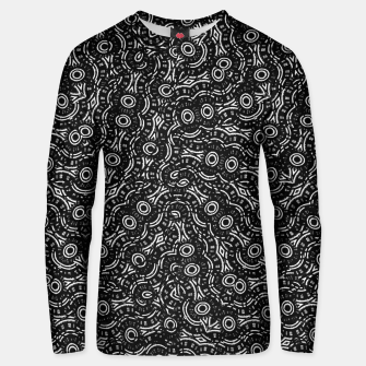 Thumbnail image of Black and White Modern Ornate Pattern Unisex sweater, Live Heroes