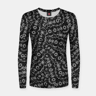 Thumbnail image of Black and White Modern Ornate Pattern Women sweater, Live Heroes