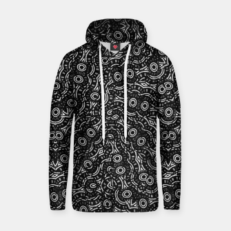Thumbnail image of Black and White Modern Ornate Pattern Hoodie, Live Heroes