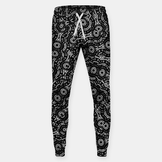 Thumbnail image of Black and White Modern Ornate Pattern Sweatpants, Live Heroes