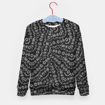Thumbnail image of Black and White Modern Ornate Pattern Kid's sweater, Live Heroes