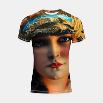 Thumbnail image of A Lovely Boudoir Bandeau On A 1920s Beauty by Rolf Armstrong Vintage Fine Art Xzendor7 Old Masters Reproductions Shortsleeve rashguard, Live Heroes