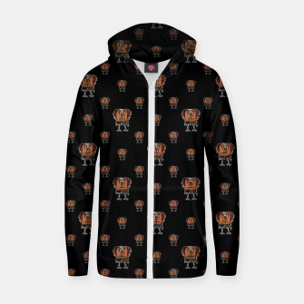 Thumbnail image of Funny Ugly Bird Drawing Print Pattern Zip up hoodie, Live Heroes