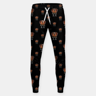 Thumbnail image of Funny Ugly Bird Drawing Print Pattern Sweatpants, Live Heroes