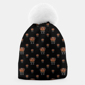 Thumbnail image of Funny Ugly Bird Drawing Print Pattern Beanie, Live Heroes