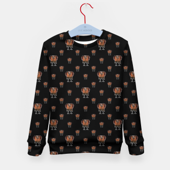 Thumbnail image of Funny Ugly Bird Drawing Print Pattern Kid's sweater, Live Heroes
